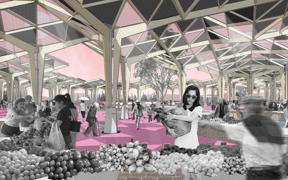 安宁金方 市集公共空间设计
